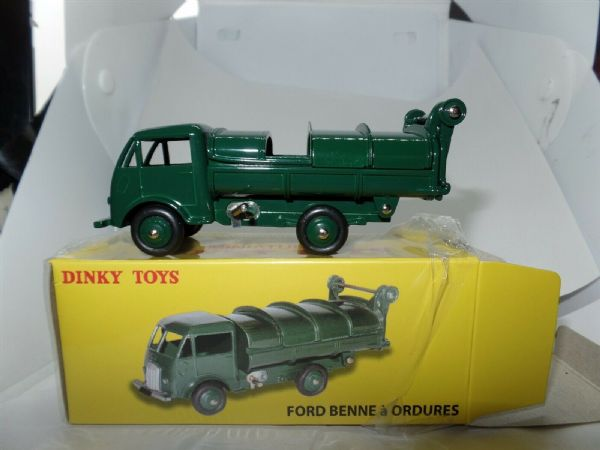 Atlas French Dinky 25V Ford Benne a' Ordures Dust Cart Tipper Sliding Top